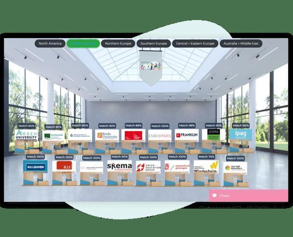 Virtual fair exhibition hall